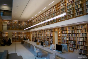 alternatives to working at your desk: a public library with computers