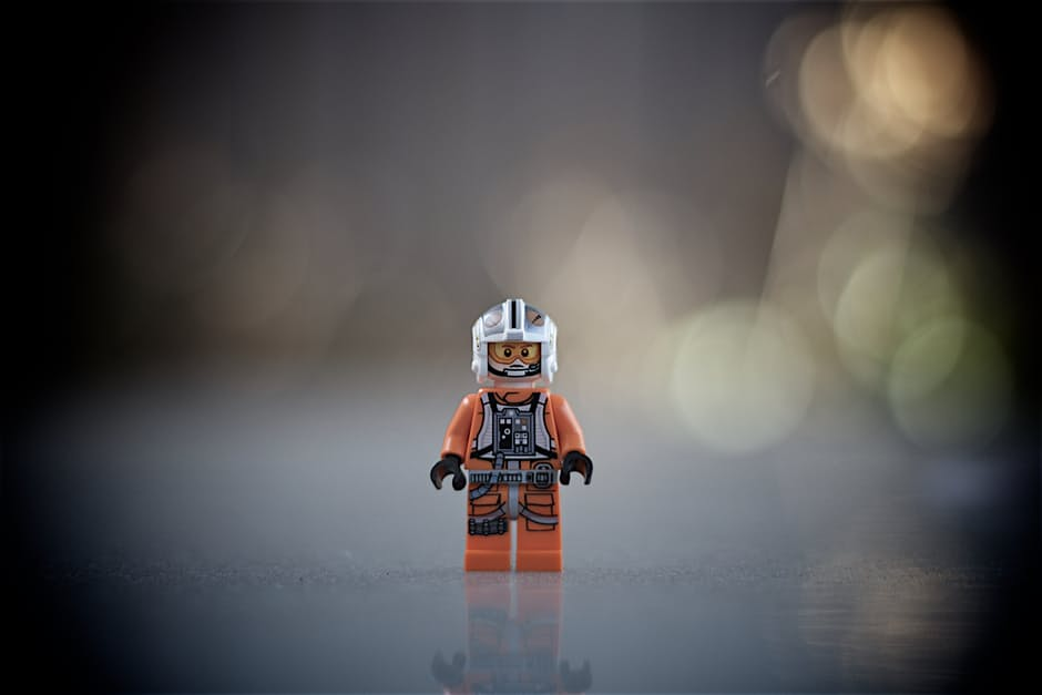 Image of a lego star wars X-wing flyer, used in blog Getting in the zone: A guide to finding flow at work