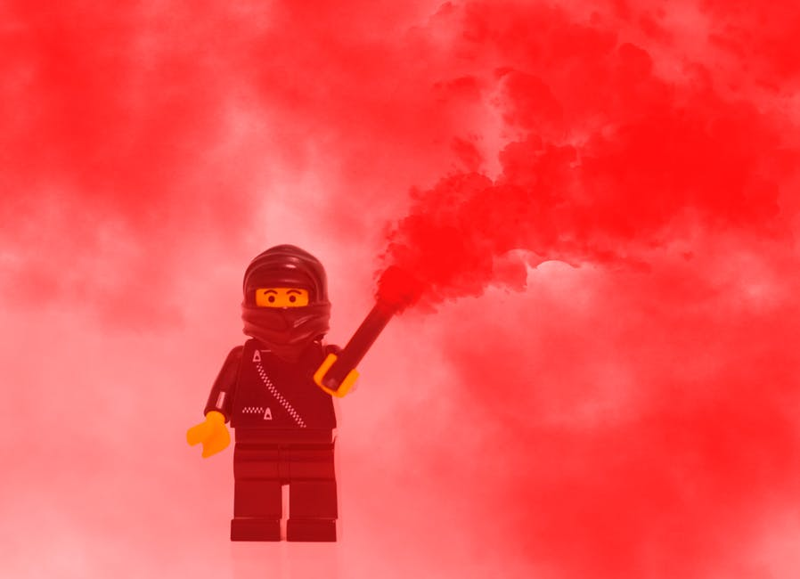 Lego ninja lighting a flare, used in blog Getting in the zone: A guide to finding flow at work