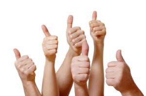 Thumbs up for pitch deck