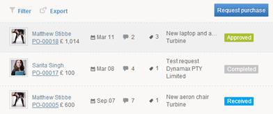 TurbineHQ.com List of POs