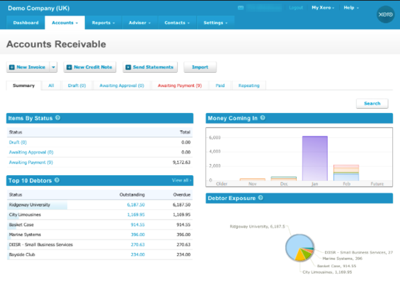 Xero - online business tools for accounting.