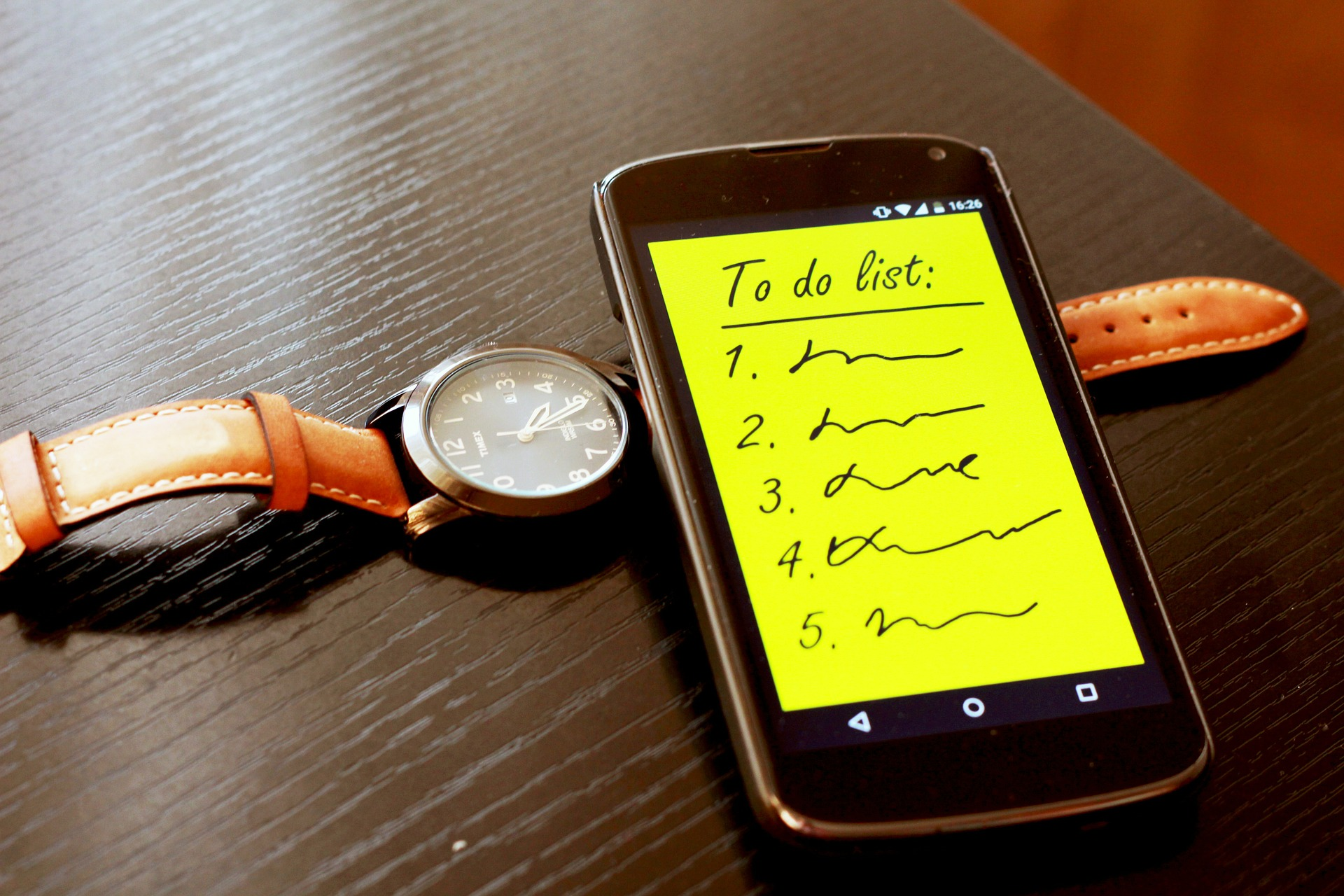 set a to-do list on your smartphone